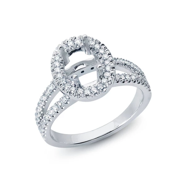 Halo Ring with Split Shank