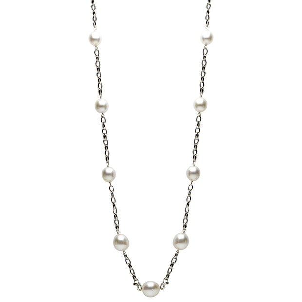 DSL White Gold South Sea Pearl Necklace