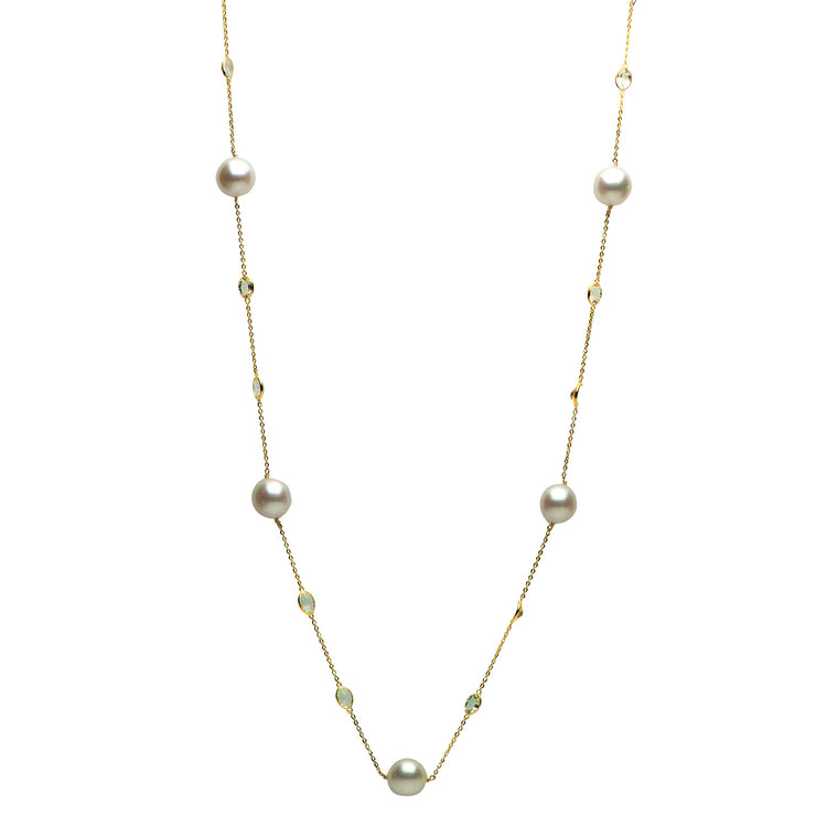 DSL South Sea Pearl & White Topaz Necklace