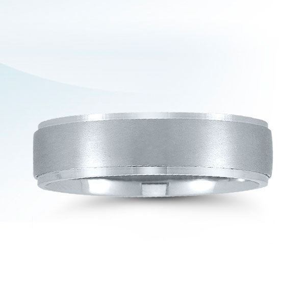 Men's 6mm White Gold Traditional Wedding Ring