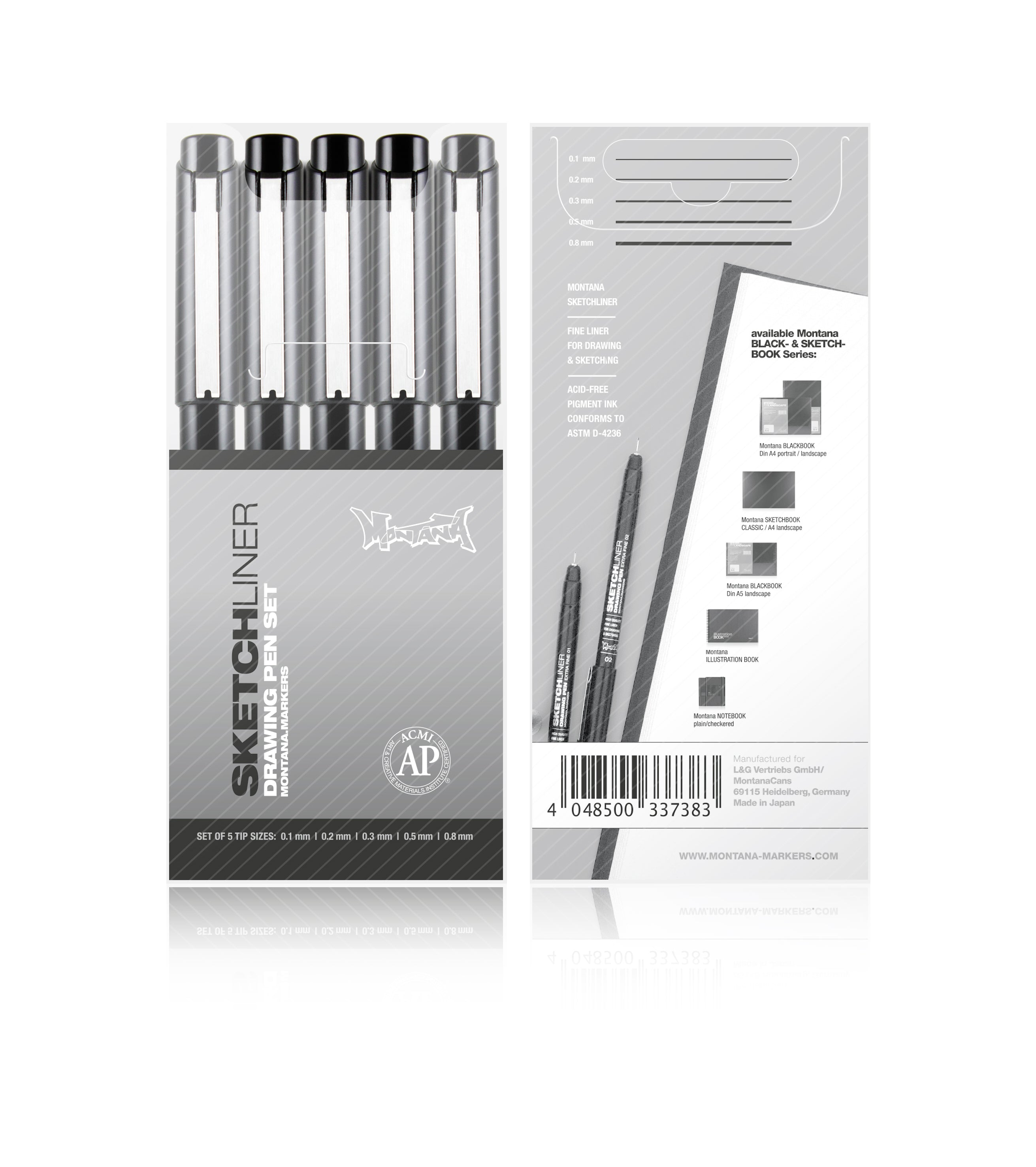 Montana Sketchliner Set of 5