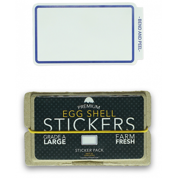 EggShellStickersSingle Blank Pack - Blue Line Border