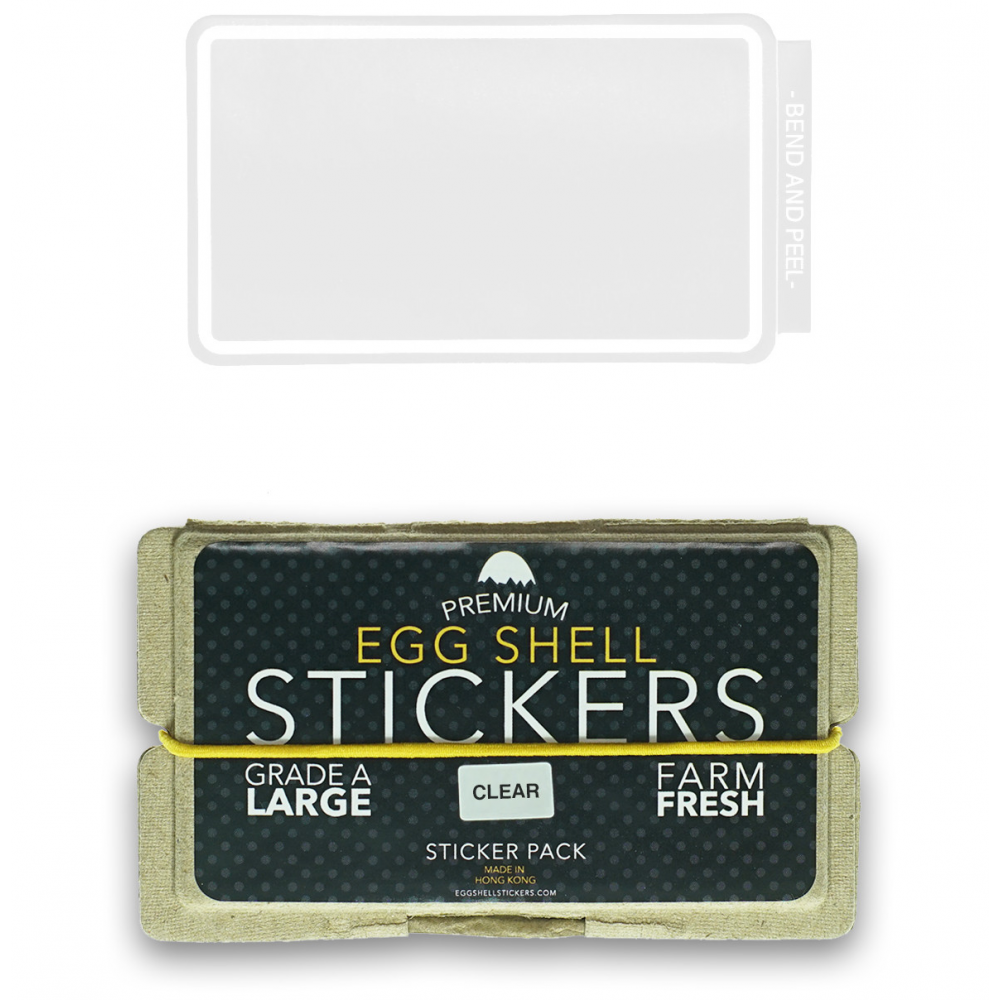 EggShellStickersSingle Blank Pack Clear Line Border