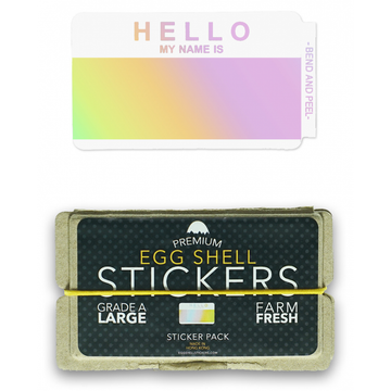 EggShellStickersSingle Blank Pack Hello Hologram