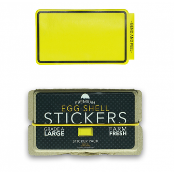 EggShellStickersSingle Blank Pack Yellow Line Border
