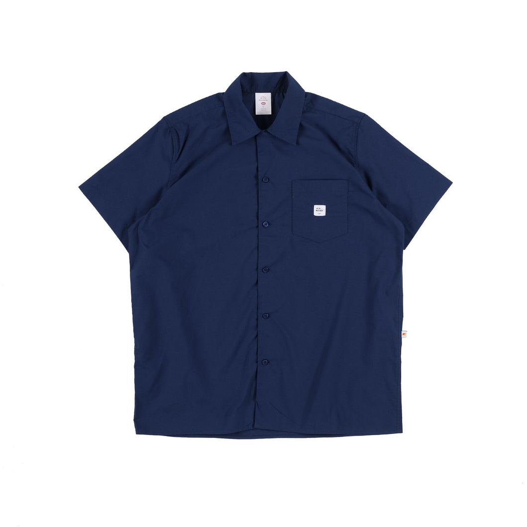 Unkl347 Boww Navy Blue Bowling Neck Shirt