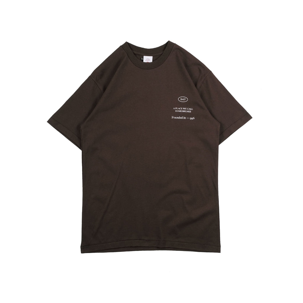 UNKL347 T-Shirt Heavy Cotton Pcee Dark Brown