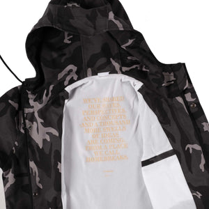 Unkl347 Coldre Grey Camo Parka Jacket