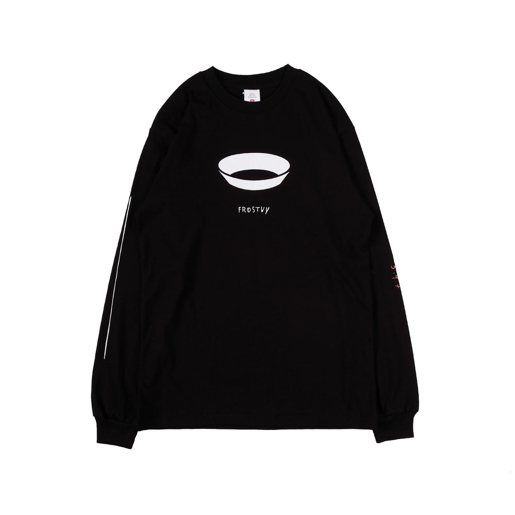 Unkl347 At Studio: 347 x Farid Stevy Black Long Sleeve T-shirt