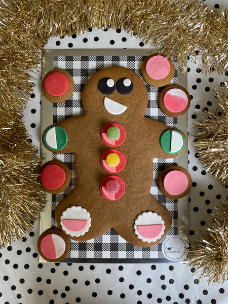 Giant gingerbread friend