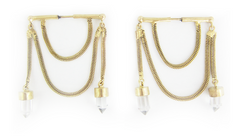 Crystal Chain Earrings