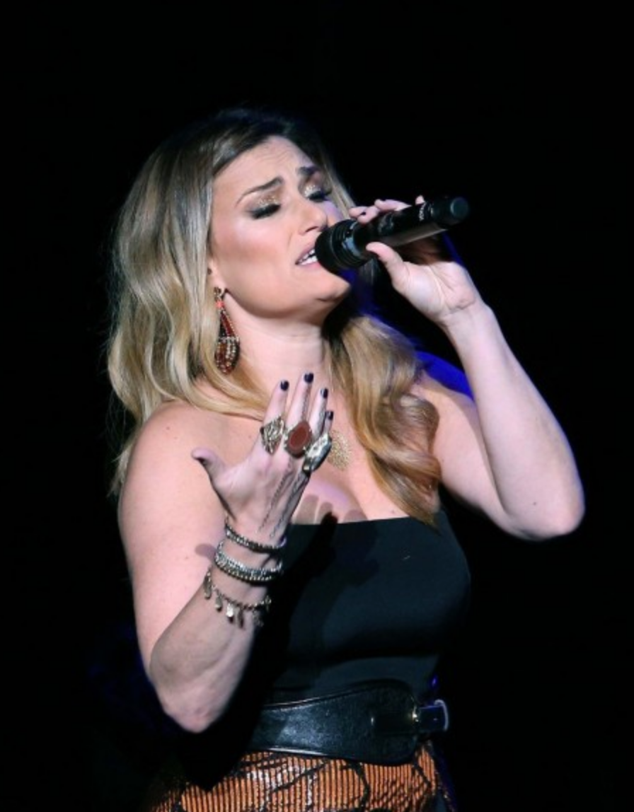 Idina Menzel in Kate Hewko Jewelry