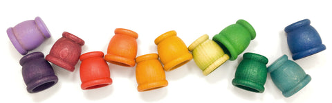 Grapat mate wooden cups peg dolls holder
