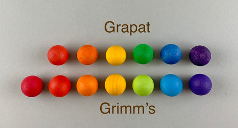 Grimm's and Grapat wooden marbles