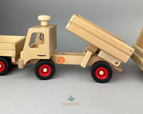 Fagus toys wooden Dump Truck with tilted truck bed
