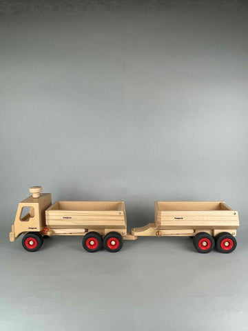 Fagus wooden trucks container tipper truck and container tipper trailer