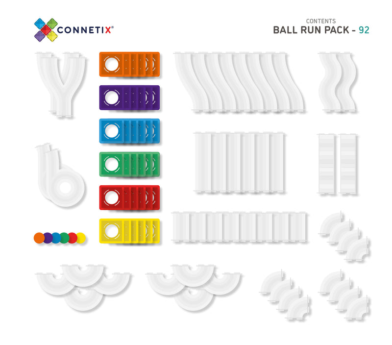 Magnetic tiles 92 pcs Ball Run Pack by Connetix