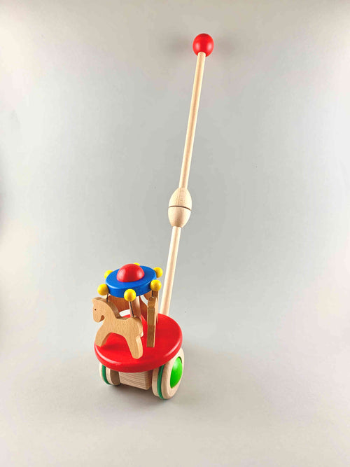 Woodberry Bajo Carousel Moving Push Toy