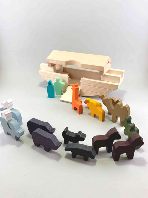 Woodberry Bajo Noah's Ark Wooden Toy