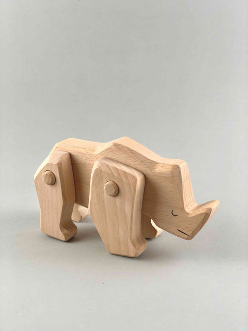 Woodberry Bajo Endangered Species Wooden Toy Rhino