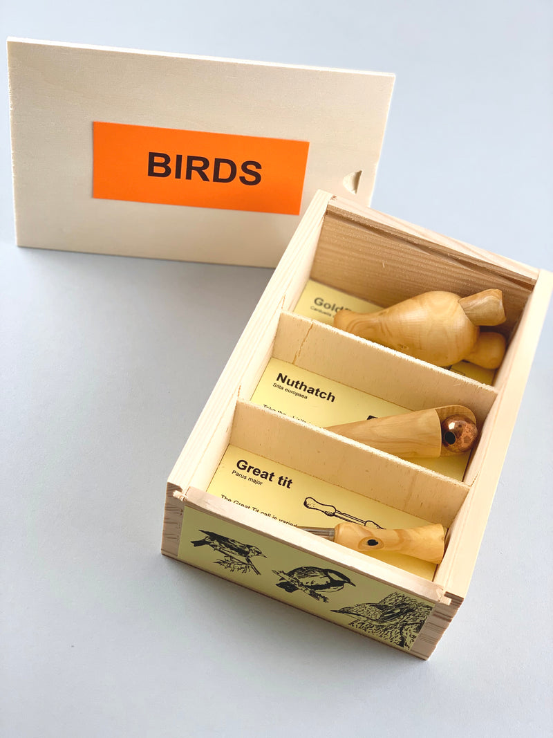 Wooden Bird call Set - Garden in the Country