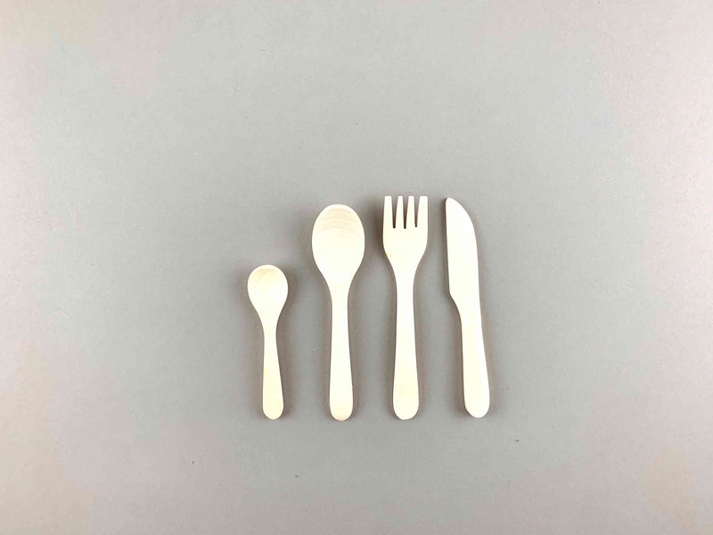 Wooden Dinnerware Cutlery Set