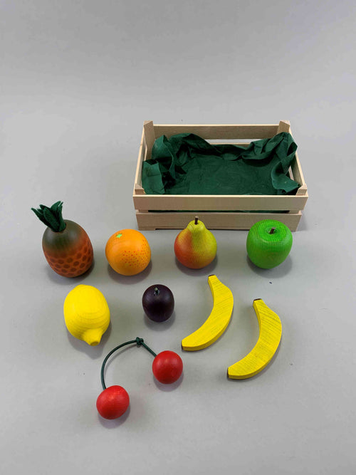 Grocer's Shop Fruit Crate Wooden Toy Set