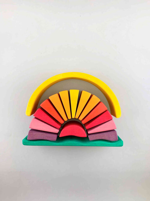 Wooden Sunray Arch (Yellow)