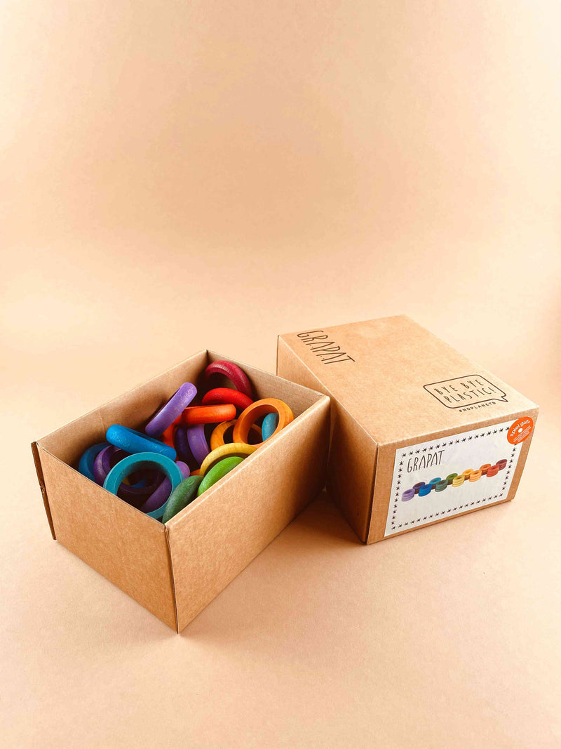 Colorful Wooden Ring Set