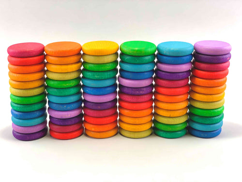 Colorful Wooden Coin Set