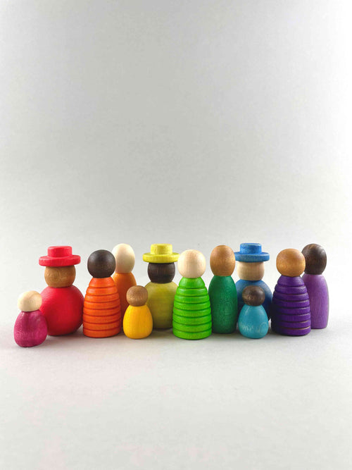 New 2021 Grapat Nins Together set. Nins of varying shapes, sizes and colors to celebrate the diversity of the world around us. Each figure has varying skin tones, colors and some even wear hats.