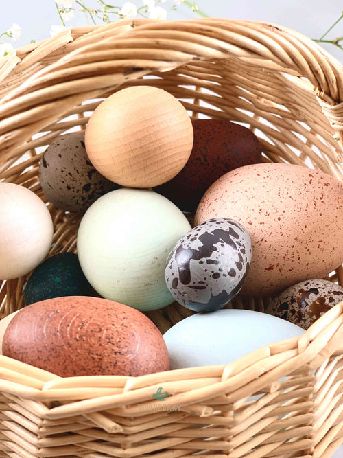 Wooden Egg Basket