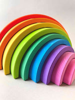 Large Rainbow Stacker 9pcs - Red