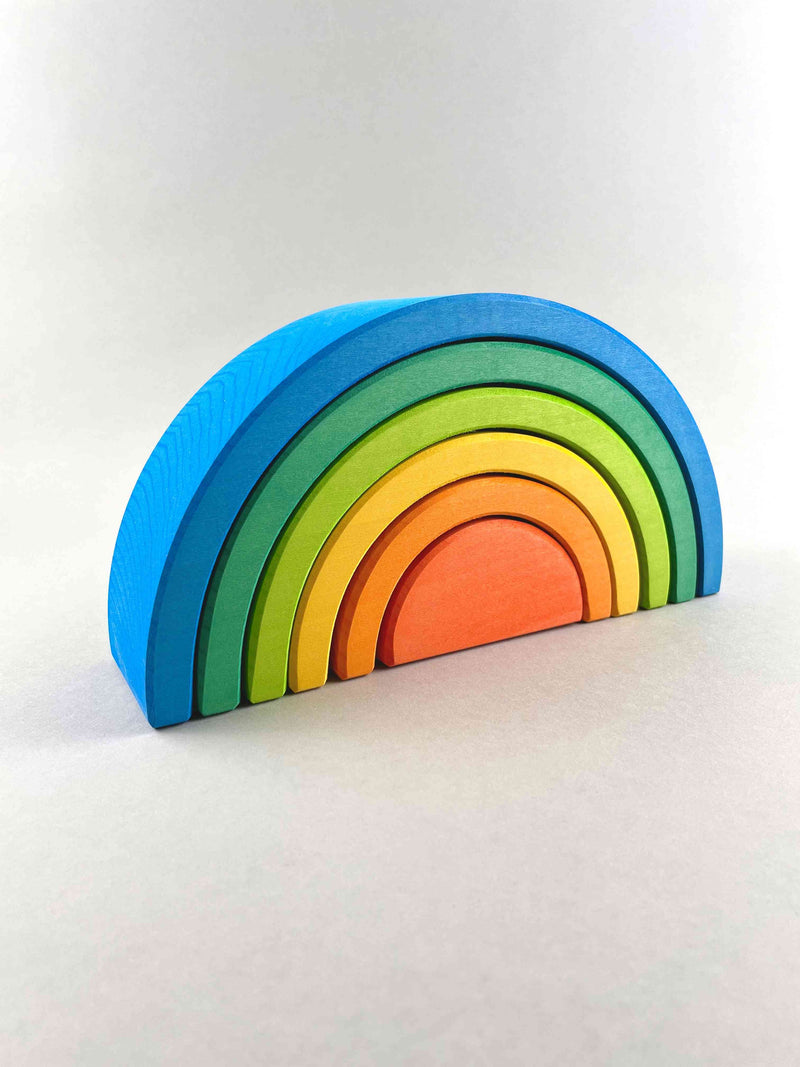 Small Rainbow Stacker 6pcs - Blue