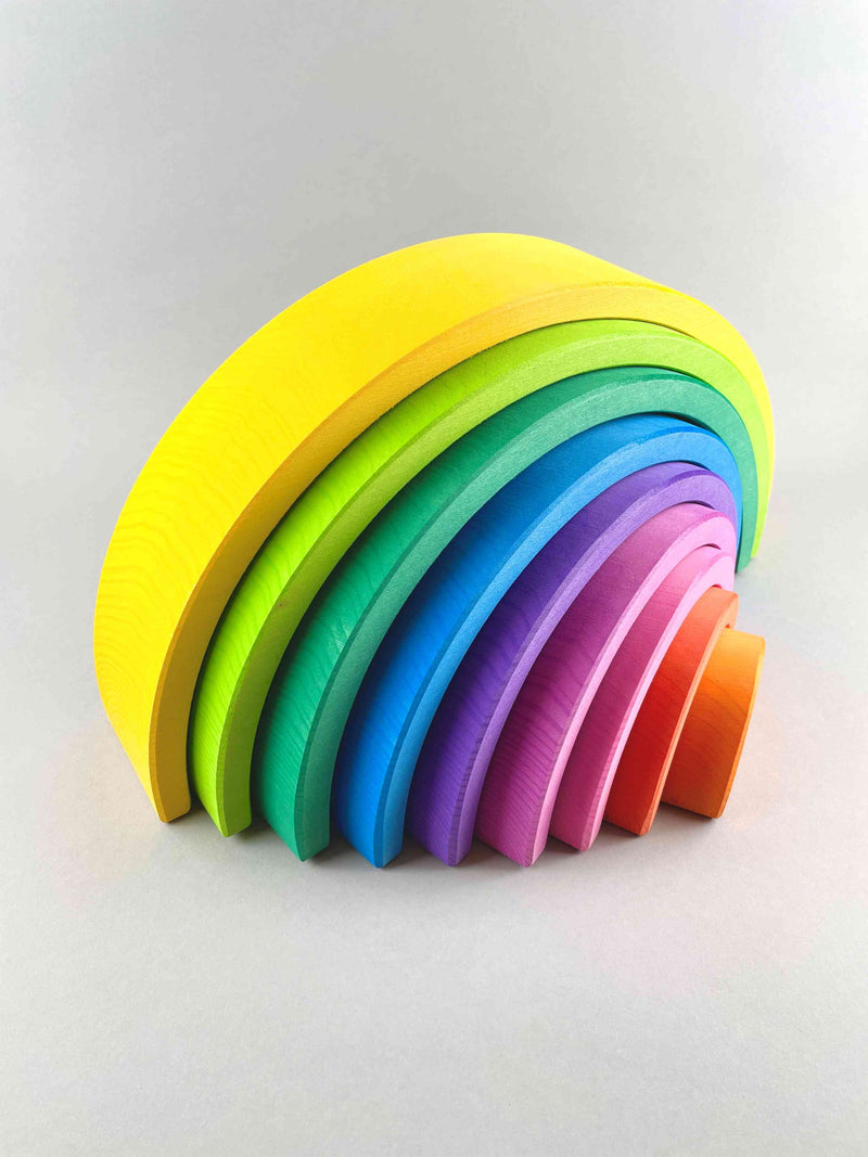 Large Rainbow Stacker 9pcs - Yellow