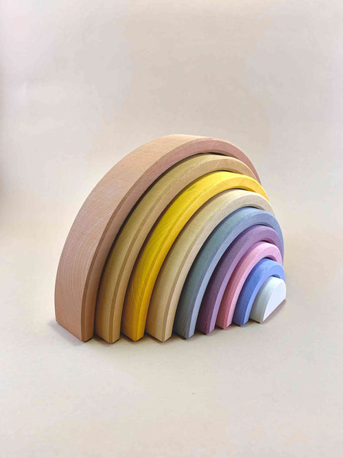 Wooden Rainbow Desert Sand Arch Stacker