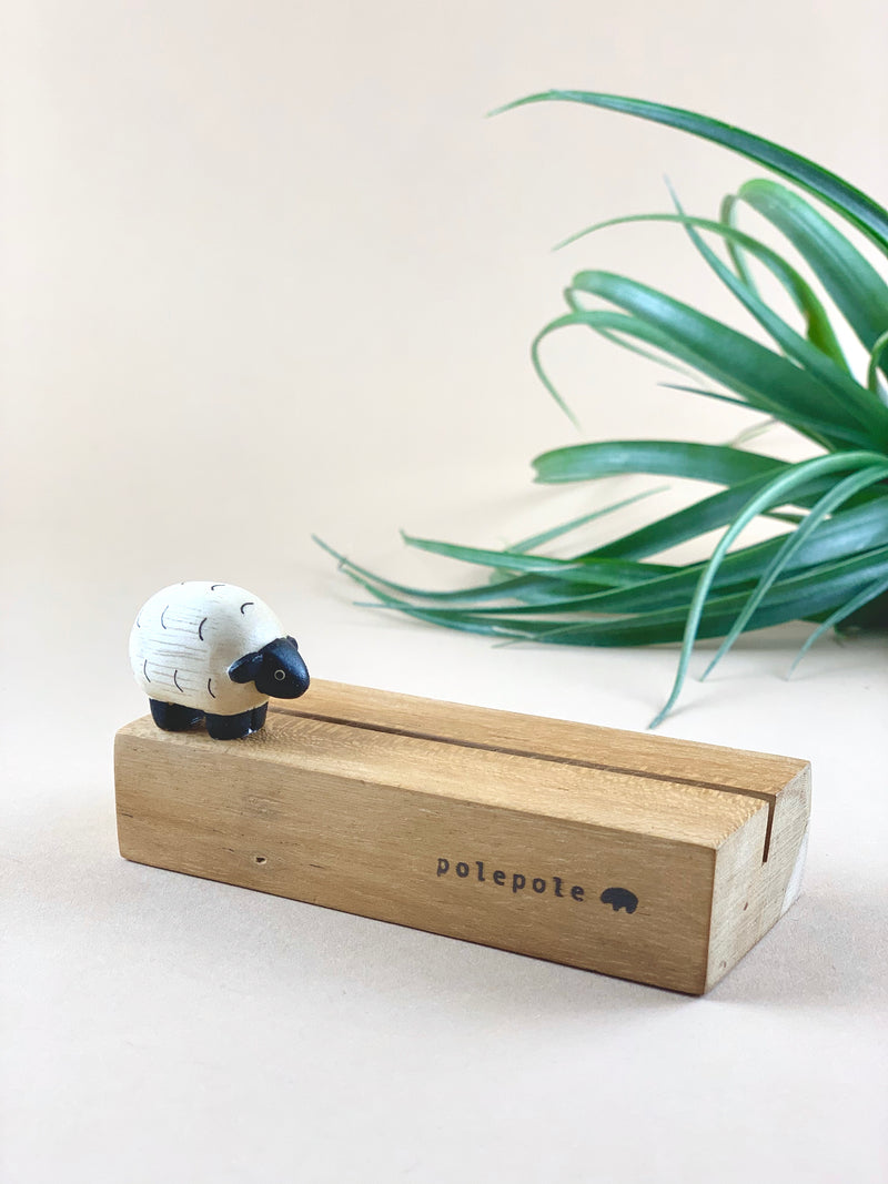Wooden Photo Stand - Sheep