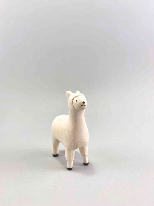 Wooden Alpaca figure