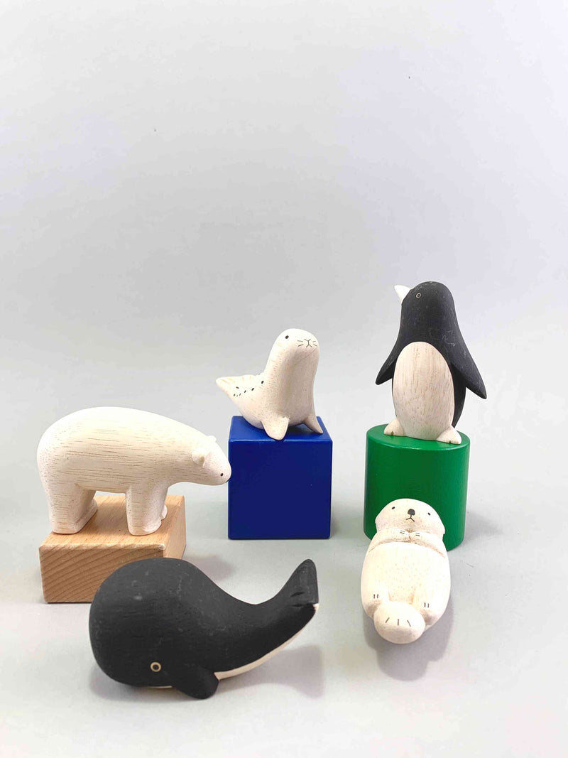 Wooden Arctic Animals Set
