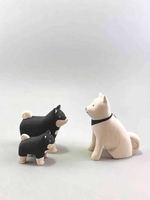 Wooden Dog Family Set