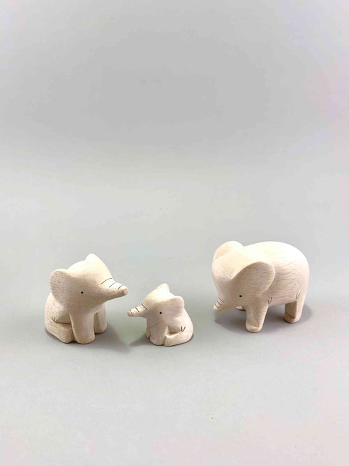 Wooden Elephant Family Set
