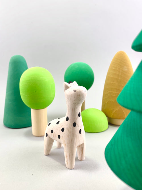 Wooden Giraffe Figure