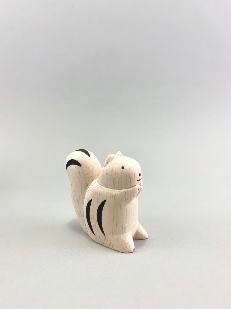 Wooden Squirrel Figure