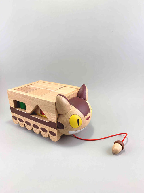 My Neighbor Totoro Wooden Catbus Building Blocks
