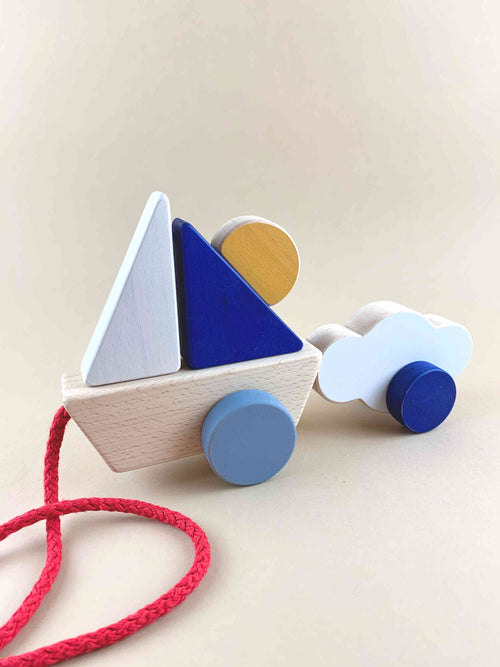 Boat and Cloud Pull Toy