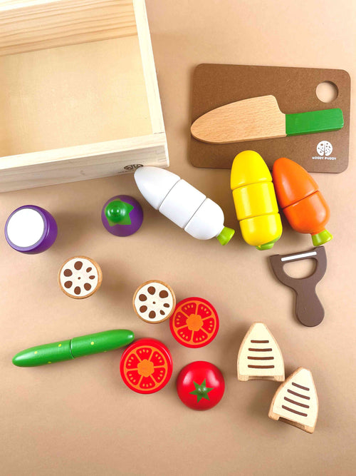 Deluxe Wooden Vegetables Set