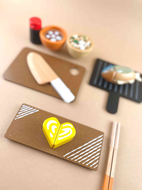 Wooden Traditional Japanese Play Food Set