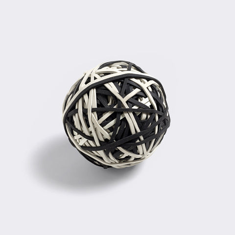 HAY Elastic ball black white