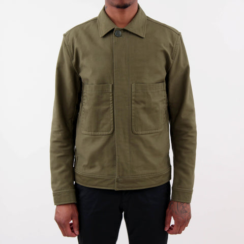Norse Projects Tyge Broken Twill Jacket Olive Green