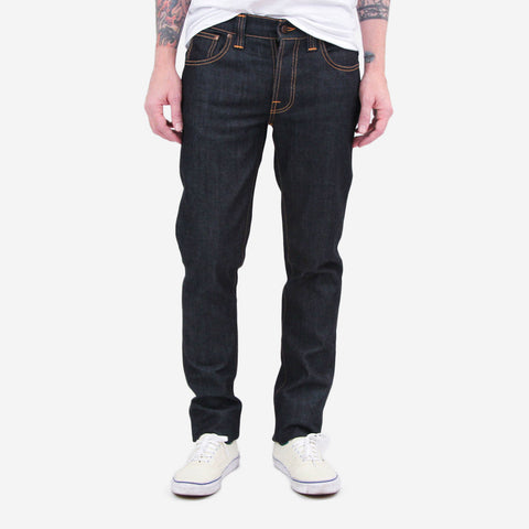 Nudie Denim Co Grim Tim Organic Dry Denim Navy